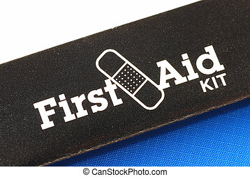 First Aid Kit - Macro view of the words First Aid Kit