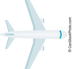Plane top view vector illustration - Vector airplane top...