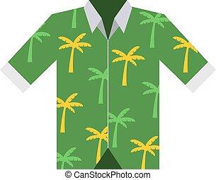 Hawaii shirt vector illustration - Hawaiian aloha shirt...