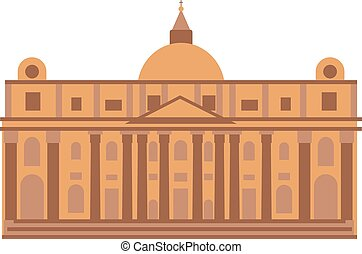 Museum building vector illustration - War memorial museum...