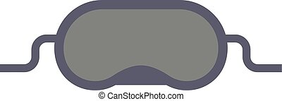 Sleeping mask vector illustration - Sleeping mask and sleep...