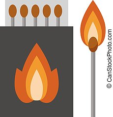 Vector burning matches sticks - Vector burning matches pack...