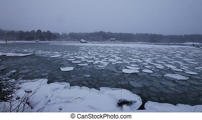 Ice Floes, baltic sea, sweden