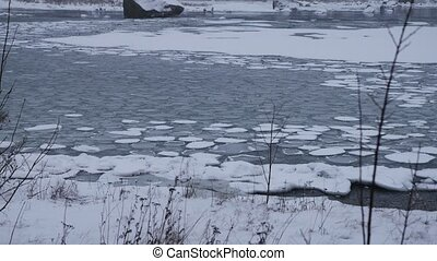 Ice Floes, baltic sea, norway