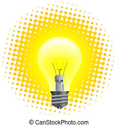 Light bulb - Realistic illustration of light bulb isolated...