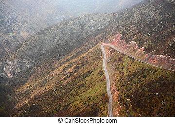 Mountain road in Armenia - Mountain road landscape in...