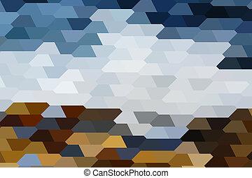 Black Sea Shore - The abstract landscape of Black Sea shore...