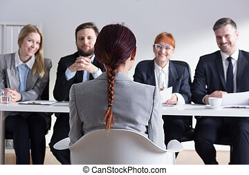 Smile for the applicant relaxes atmosphere - Recruiters...