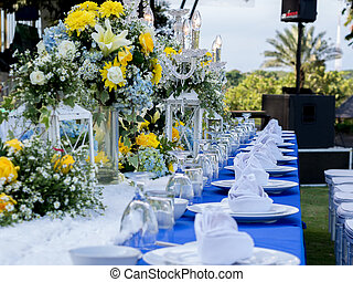 Banquet Table Set for Wedding
