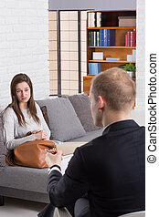 Would you llike to tell me about it? - Young woman talking...