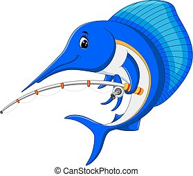 Marlin fish cartoon - illustration of Marlin fish cartoon...