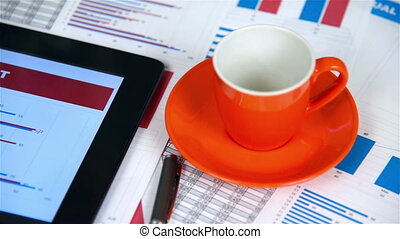 Coffee and Stock Exchange Statistic - Cup Of Coffee and...