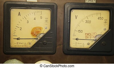 Old gauges isolated - Old industrial electronics gauge...