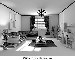 the modern interior sketch
