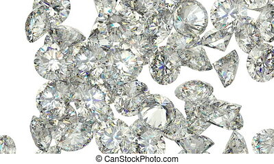 Diamonds or gems scatter slowmo - Diamonds or gems scatter...