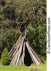 Mikok u\'macha - Native american Miwok indian village...