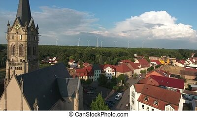 Old church Lucka medieval town Germany Thuringia