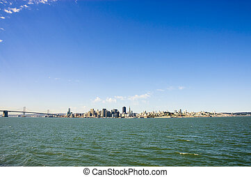 San francisco skyline from treasure island with space for...