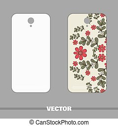 Phone With Floral Ornament