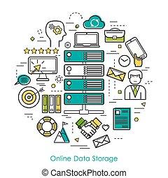 Online Data Storage - Round Line Concept