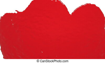 red drops falling on white screen