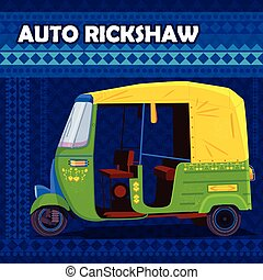 Indian Auto Rickshaw representing colorful India - easy to...
