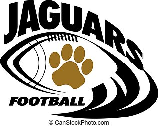 jaguars football team design with paw print for school,...
