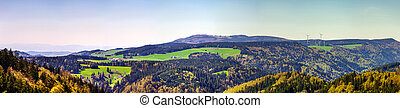 Schwarzwald mountains spring view, sunny day, natural...