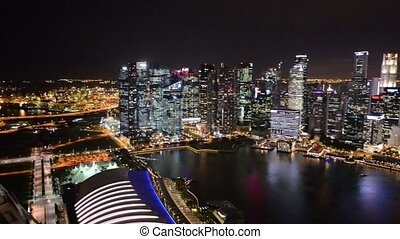 Evening view of downtown Singapore