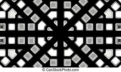 gray mosaics block disco pattern,tunnel interface