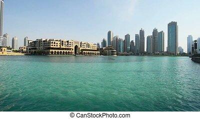 Dubai fountain and the pool