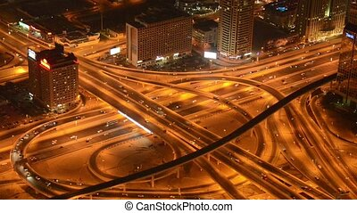 Busy intersection in Dubai UAE