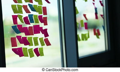 Multiple Colourful business Post It With Idea Text