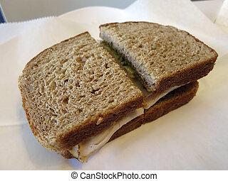 Turkey Sandwich on Whole Wheat Bread