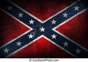 Confederate flag - Closeup of grungy Confederate flag