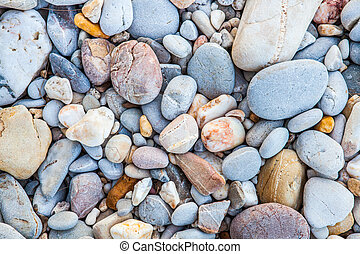 Pebbles Background and Texture, beach from Kho Lanta,...