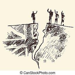 Sketch Brexit UK EU referendum vector illustration - Sketch...