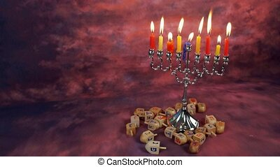 Jewish holiday hannukah symbols - Hanukah candles...