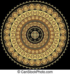 Concentric ornament - Round ornament with Byzantine elements