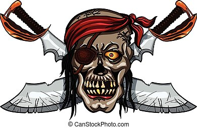 Pirate skull and crossed swords