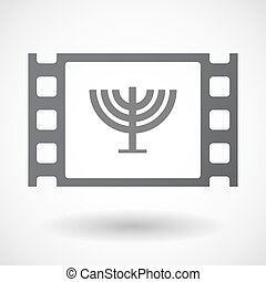 Isolated 35mm film frame with a chandelier