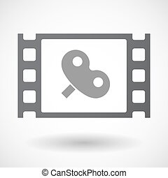 Isolated 35mm film frame with a toy crank - Illustration of...