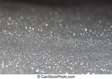 Grey Glitter Texture Macro - Decorative grey glitter texture...