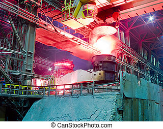 Metallurgical plant, industrial production process -...