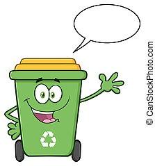 dessin de poubelle recycler caract re ic ne cartoon character csp22870149 recherchez. Black Bedroom Furniture Sets. Home Design Ideas