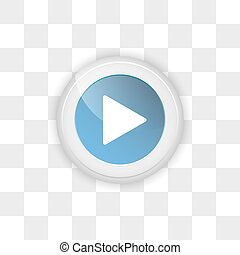 Web button play on a transparent background. - Web button...