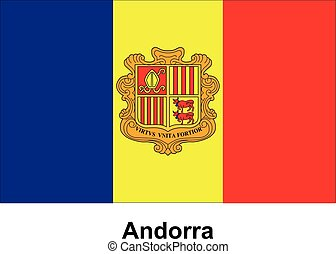 Vector image of flag Andorra