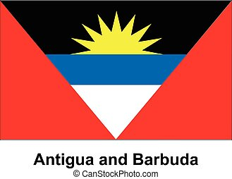 Vector image of flag Antigua