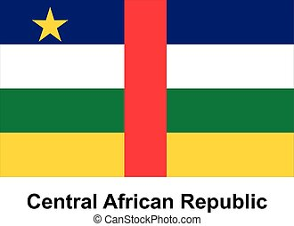 Central African Republic - Vector image of flag Central...