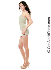 Sexy woman posing in dress - Young sexy woman posing in...